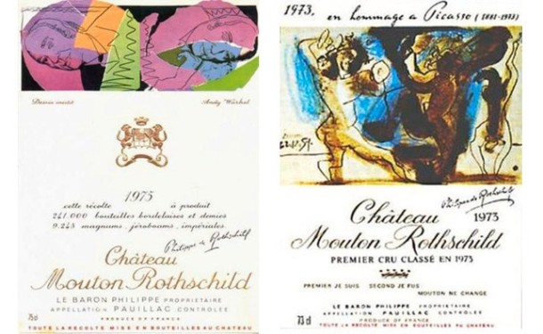 Picasso, Chateau Mouton-Rothschild wine