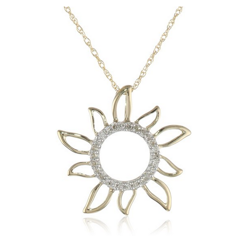 sunflower pendant. click on article link for sunflower symbolism