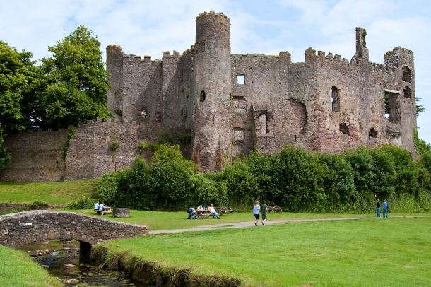 Laugharne Castle, Carmathenshire, South Wales
